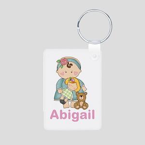 Abigail's Baby Doll Aluminum Photo Keychain