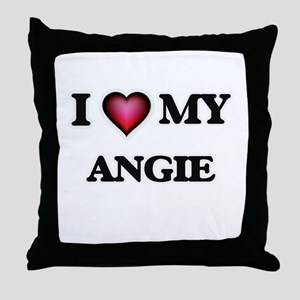 I love my Angie Throw Pillow