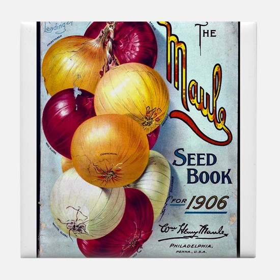 Onions on Maule Seed Book 1906 Tile Coaster