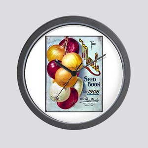 Onions on Maule Seed Book 1906 Wall Clock