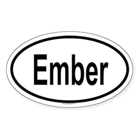 EMBER Oval Sticker