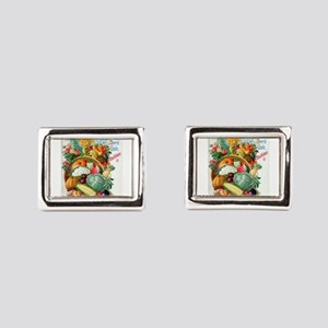 1898 Plant and Seed Guide Rectangular Cufflinks
