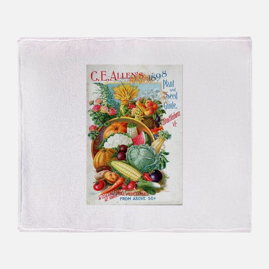 1898 Plant and Seed Guide Throw Blanket