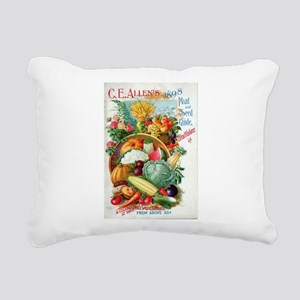 1898 Plant and Seed Guid Rectangular Canvas Pillow