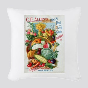 1898 Plant and Seed Guide Woven Throw Pillow