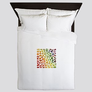 Fruits and Vegetables Rainbow Queen Duvet