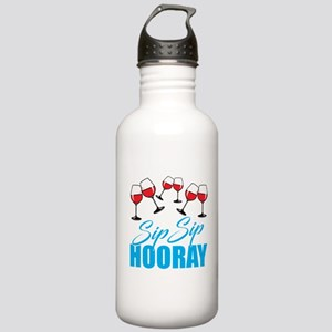 Sip Sip Hooray Wine! Stainless Water Bottle 1.0L