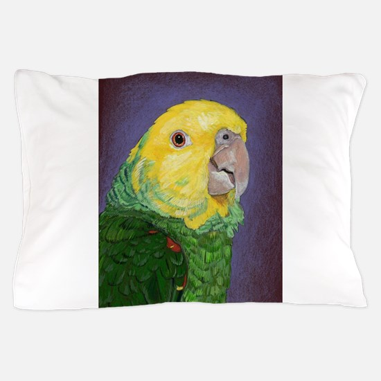 Double Yellow-Headed Amazon Pillow Case