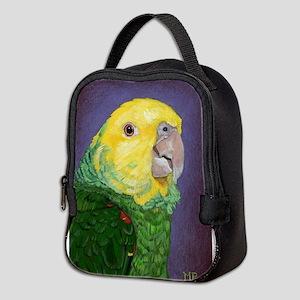Double Yellow-Headed Amazon Neoprene Lunch Bag