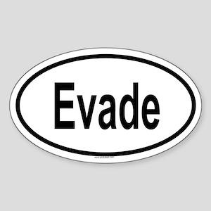 EVADE Oval Sticker