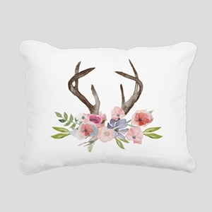 Rustic Watercolor Wildflower Bouquet and Antlers R