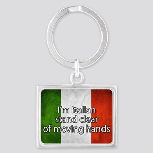 Stand Clear of Moving Hands Keychains