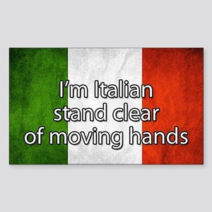 Stand Clear of Moving Hands Sticker