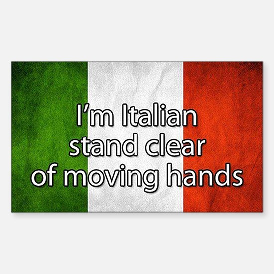 Stand Clear of Moving Hands Decal