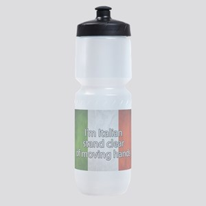 Stand Clear of Moving Hands Sports Bottle