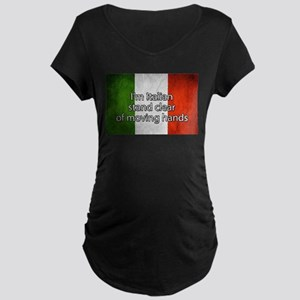 Stand Clear of Moving Hands Maternity T-Shirt