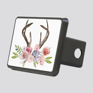 Rustic Watercolor Wildflower Bouquet and Antlers H