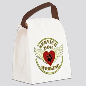 SERVICE DOG WORKING WINGS Canvas Lunch Bag