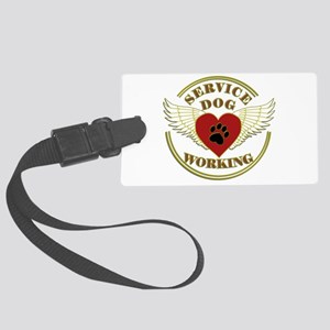 SERVICE DOG WORKING WINGS Luggage Tag