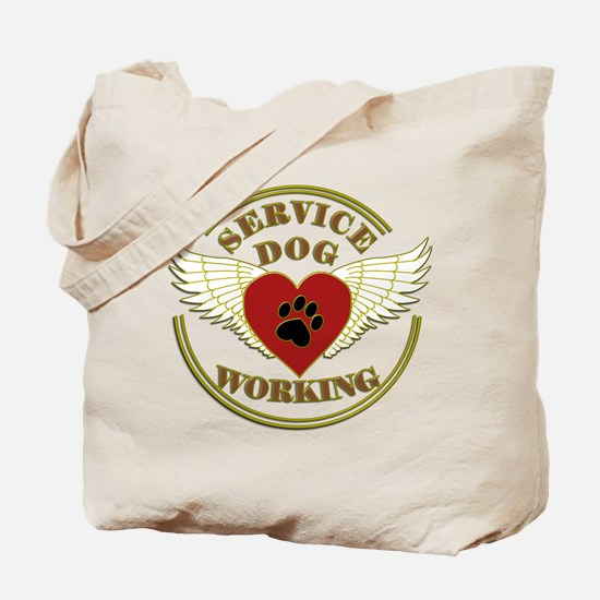 SERVICE DOG WORKING WINGS Tote Bag