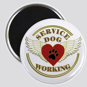 SERVICE DOG WORKING WINGS Magnets