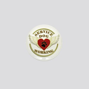 SERVICE DOG WORKING WINGS Mini Button