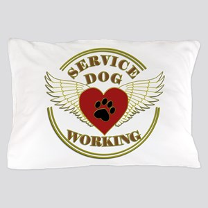 SERVICE DOG WORKING WINGS Pillow Case