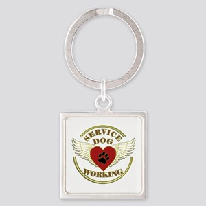 SERVICE DOG WORKING WINGS Keychains