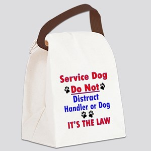 SERVICE DOG Canvas Lunch Bag
