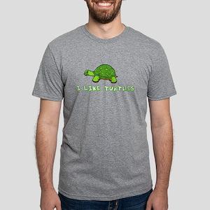 Cute Turtle Mens Tri-blend T-Shirt