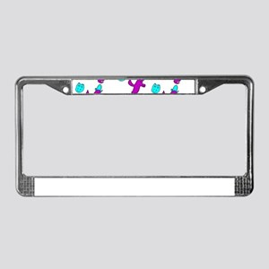 Hippo Birdie Happy Birthday 4K License Plate Frame