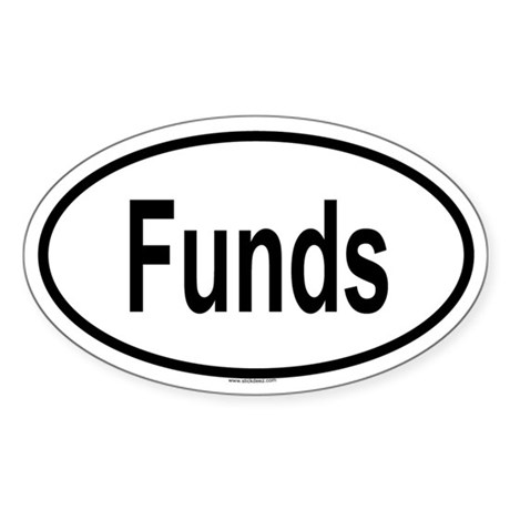 FUNDS Oval Sticker