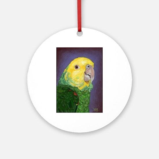 Double Yellow-Headed Amazon Round Ornament