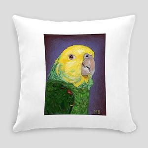 Double Yellow-Headed Amazon Everyday Pillow