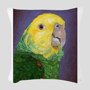 Double Yellow-Headed Amazon Woven Throw Pillow
