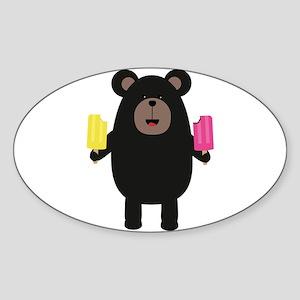 Black Bear with Icecream Sticker
