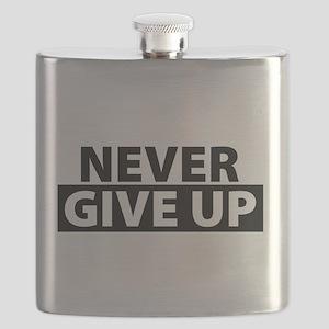 Never Give Up Motivation Inspiration Flask