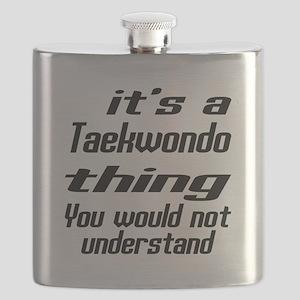 It Is Taekwondo Thing Martial Arts Designs Flask