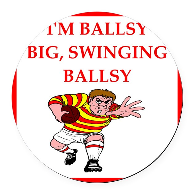 Rugby Round Car Magnet By RugbyRascals