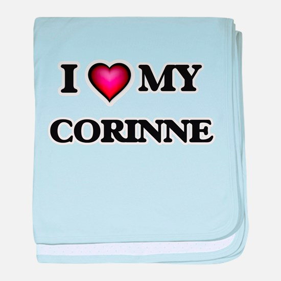 I love my Corinne baby blanket