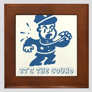 It's the sound of the police Framed Tile