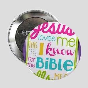 """Jesus loves me 2.25"""" Button"""
