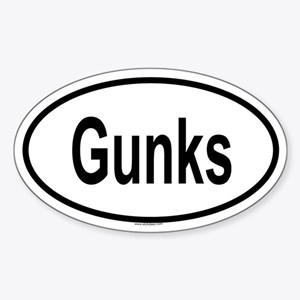 GUNKS Oval Sticker