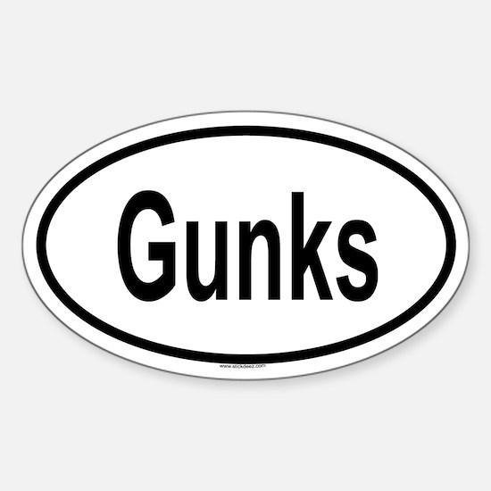 GUNKS Oval Decal
