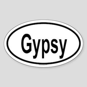GYPSY Oval Sticker