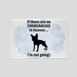 Chihuahuas In Heaven Rectangle Magnet