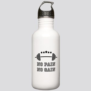 No Pain - No Gain Stainless Water Bottle 1.0L