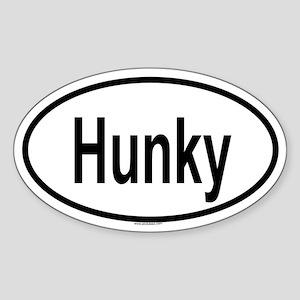 HUNKY Oval Sticker