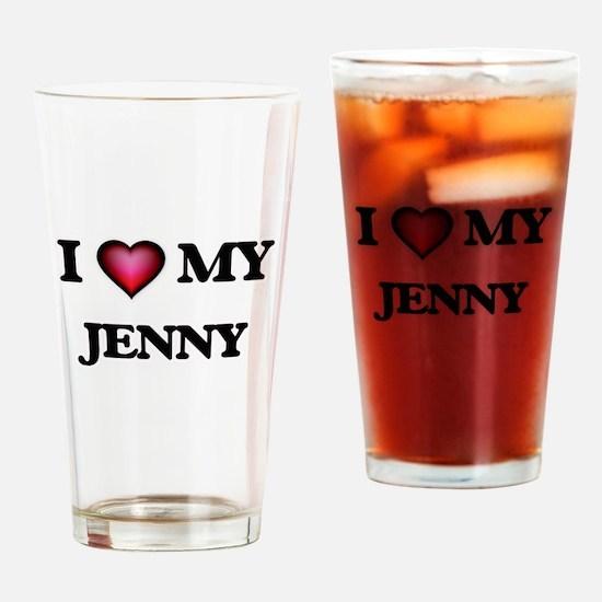 I love my Jenny Drinking Glass