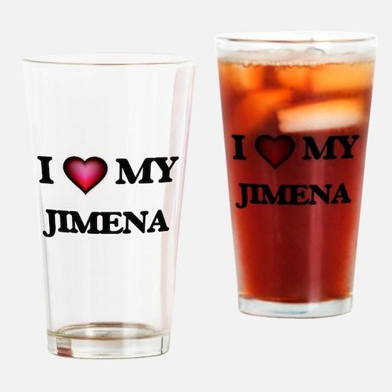 I love my Jimena Drinking Glass